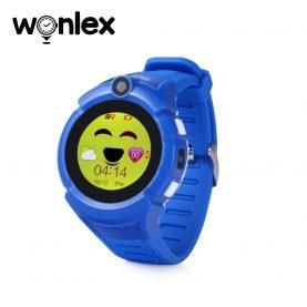 Okosóra gyerekeknek Wonlex GW600-Q360 Tárcsázási funkcióval, GPS nyomkövető, Kamera, Zseblámpa, Lépésszámláló, SOS, Kék