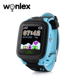 Okosóra gyerekeknek GW800 Wonlex Tárcsázási funkcióval, GPS nyomkövető, Kamera, Lépésszámláló, SOS, IP54, Kék