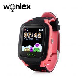 Okosóra gyerekeknek GW800 Wonlex Tárcsázási funkcióval, GPS nyomkövető, Kamera, Lépésszámláló, SOS, IP54, Piros
