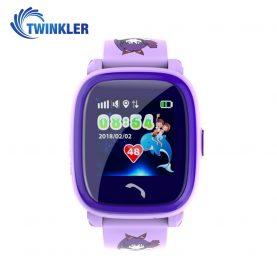 Okosóra gyerekeknek Twinkler TKY-DF25 Tárcsázási funkcióval, GPS nyomkövetővel, Lépésszámláló, SOS, IP54 – Lila
