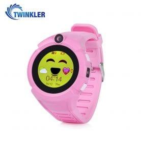Okosóra gyerekeknek Twinkler TKY-G610 Tárcsázási funkcióval, GPS nyomkövetővel, Kamera, Zseblámpa, Lépésszámláló, SOS, Rózsaszín