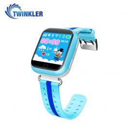 Okosóra gyerekeknek Twinkler TKY-Q100 Tárcsázási funkcióval, GPS nyomkövetővel, Lépésszámláló, SOS, Kék