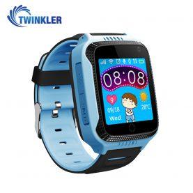 Okosóra gyerekeknek Twinkler TKY-Q529 Tárcsázási funkcióval, GPS nyomkövető, Kamera, Lépésszámláló, SOS, Zseblámpa, Kék