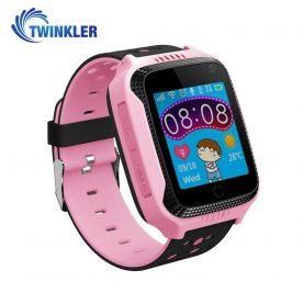 Okosóra gyerekeknek Twinkler TKY-Q529 Tárcsázási funkcióval, GPS nyomkövető, Kamera, Lépésszámláló, SOS, Zseblámpa, Rózsaszín