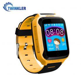 Okosóra gyerekeknek Twinkler TKY-Q529 Tárcsázási funkcióval, GPS nyomkövető, Kamera, Lépésszámláló, SOS, Zseblámpa, Sárga