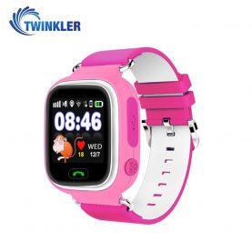 Okosóra gyerekeknek Twinkler TKY-Q90 Tárcsázási funkcióval, GPS nyomkövetővel, Lépésszámláló, SOS, Rózsaszín
