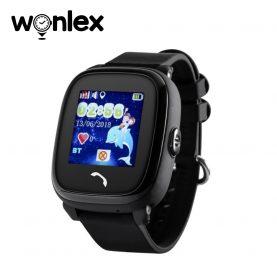 Okosóra gyerekeknek Wonlex GW400S WiFi Tárcsázási funkcióval, GPS nyomkövető, Lépésszámláló, SOS, IP54, Fekete