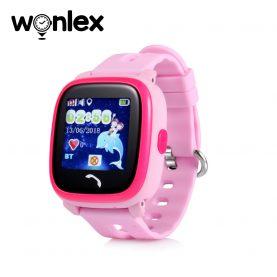 Okosóra gyerekeknek Wonlex GW400S WiFi Tárcsázási funkcióval, GPS nyomkövetővel, Lépésszámláló, SOS, IP54, Rózsaszín