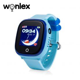 Okosóra gyerekeknek GW400X Wonlex WiFi,Tárcsázási funkcióval, GPS Nyomkövetők, Kamera, Lépésszámláló, SOS, IP54, Bleu