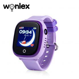 Okosóra gyerekeknek GW400X Wonlex Wifi, Tárcsázási funkcióval, GPS Nyomkövetők, Kamera, Lépésszámláló, SOS, IP54, Lila