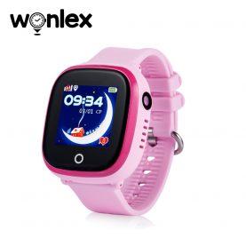 Okosóra gyerekeknek GW400X Wonlex WiFi, Tárcsázási funkcióval, GPS Nyomkövetők, Kamera, Lépésszámláló, SOS, IP54, Rózsaszín