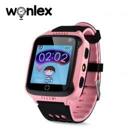 Okosóra  gyerekeknek Wonlex GW500s Tárcsázási funkcióval, GPS nyomkövető, Kamera, Lépésszámláló, SOS, Rózsaszín