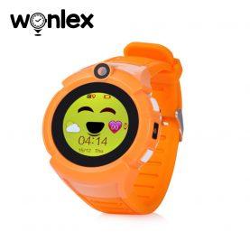 Okosóra gyerekeknek Wonlex GW600-Q360 Tárcsázási funkcióval, GPS nyomkövető, Kamera, Zseblámpa, Lépésszámláló, SOS, Narancssárga