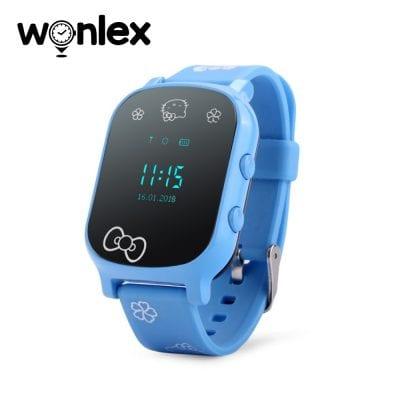 Okosóra gyerekeknek Wonlex GW700-T58 Tárcsázási funkcióval, GPS nyomkövető, Kék