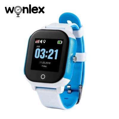 Okosóra gyerekeknek Wonlex GW700S Tárcsázási funkcióval, GPS nyomkövető, Lépésszámláló, SOS, IP54, Kék-Fehér
