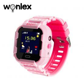 Okosóra gyerekeknek KT03 Wonlex Tárcsázási funkcióval, GPS nyomkövető, Kamera, Lépésszámláló, SOS, IP54, Rózsaszín