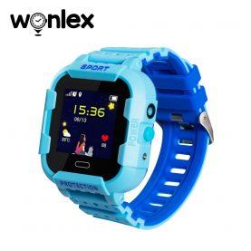 Okosóra gyerekeknek KT03 Wonlex Tárcsázási funkcióval, GPS nyomkövető, Kamera, Lépésszámláló, SOS, IP54, Kék