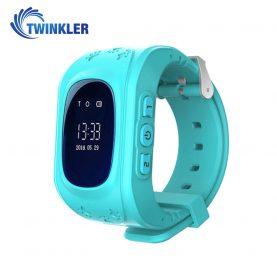 Okosóra Twinkler TKY-Q50 Tárcsázási funkcióval, GPS nyomkövetővel, Lépésszámláló, SOS, Türkiz