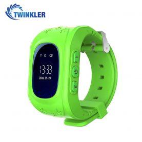 Okosóra Twinkler TKY-Q50 Tárcsázási funkcióval, GPS nyomkövetővel, Lépésszámláló, SOS, Zöld