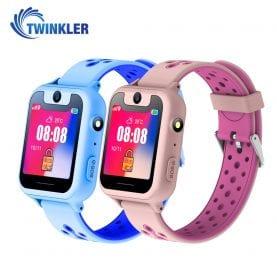 Promóciós csomag 2 Okosóra gyerekeknek Twinkler TKY-S6 Tárcsázási funkcióval, GPS nyomkövető, Kamera, Zseblámpa, Lépésszámláló, SOS, Rózsaszín-Kék
