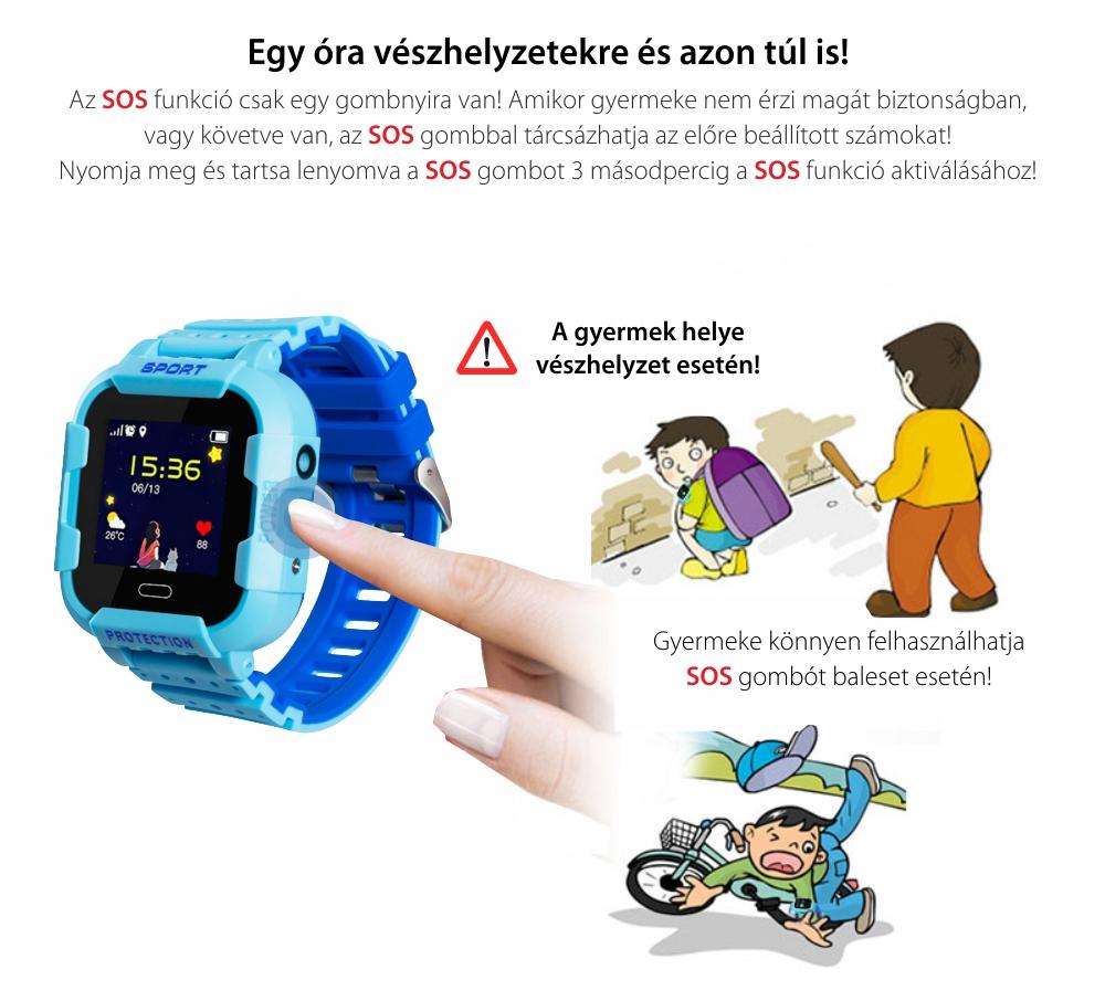 Promóciós csomag 2Db. Okosóra gyerekeknek Wonlex KT03 Tárcsázási funkcióval, GPS nyomkövető, Kamera, Lépésszámláló, SOS, IP54, Rózsaszín-Kék