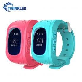 Promóciós csomag 2 Okosóra gyerekeknek Twinkler TKY-Q50 Tárcsázási funkcióval, GPS nyomkövetővel, Lépésszámláló, SOS, Rózsaszín-Türkiz
