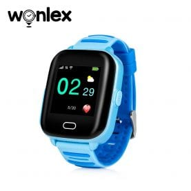 Okosóra gyerekeknek Wonlex KT02 Tárcsázási funkcióval, GPS nyomkövető, 3G, Kamera, IP54, Android, Kék