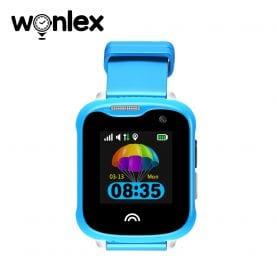 Okosóra gyerekeknek Wonlex KT05 Tárcsázási funkcióval, GPS nyomkövető, kamerával, IP54, Kék