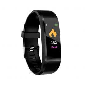 Intelligens fitnesz karkötő l15+ Vérnyomás és pulzusmérővel, Fekete