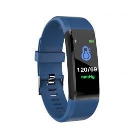 Intelligens fitnesz karkötő l15+ Vérnyomás és pulzusmérővel, Kék