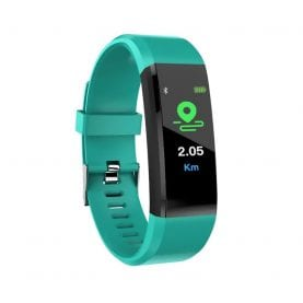 Intelligens fitnesz karkötő l15+ Vérnyomás és pulzusmérővel, Zöld