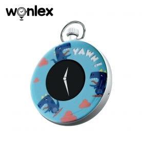 Mini GPS nyomkövető Wonlex S03 Digitális órával, Helymeghatározással és megfigyeléssel – Kék