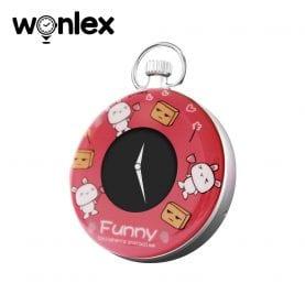 Mini GPS nyomkövető Wonlex S03 Digitális órával, Helymeghatározással és megfigyeléssel – Piros