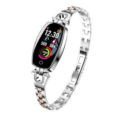 Okosóra fitnesz H8 Pulzusmérő funkció, Vérnyomásmérő funkció, Értesítések, Lépésszámláló, Bluetooth, Fém, Ezüst színű