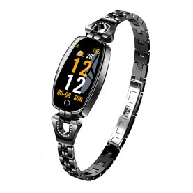 Okosóra fitnesz H8 Pulzusmérő funkció, Vérnyomásmérő funkció, Értesítések, Lépésszámláló, Bluetooth, Fém, Fekete