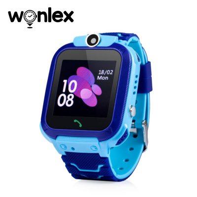 Okosóra gyerekeknek GW600S Wonlex Tárcsázási funkcióval, GPS Nyomkövetők, Alvásfigyelő, Kamera, Lépésszámláló, SOS, IP54, Kék