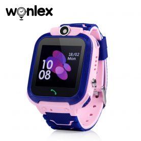Okosóra gyerekeknek GW600S Wonlex Tárcsázási funkcióval, GPS Nyomkövetők, Hívásfigyelés, Kamera, Lépésszámláló, SOS, IP54, Rózsaszín
