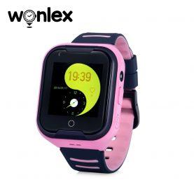 Okosóra gyerekeknek Wonlex KT11 telefon funkcióval, Videohívással, GPS helymeghatározással, Kamera, Lépésszámláló, Zseblámpa, SOS, IP54, 4G – Rózsaszín