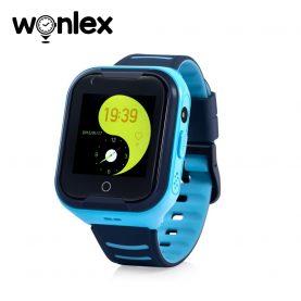 Okosóra gyerekeknek Wonlex KT11 telefon funkcióval, Videohívással, GPS helymeghatározással, Kamera, Lépésszámláló, Zseblámpa, SOS, IP54, 4G – Kék