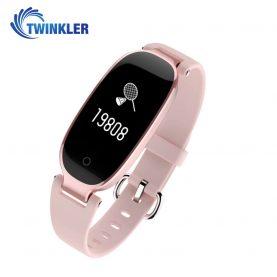 Intelligens fitnesz karkötő TKY-S3 Pulzusmérő funkció, Vérnyomásmérő funkció, Alvásfigyelés, Lépésszámláló, Értesítések, Rózsaszín
