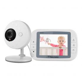 Bébiőr 851 Vezeték nélküli BS-W236, Audio-Video megfigyelés, Hőmérséklet-figyelés, Kétirányú kommunikáció, altaródalok, Éjszakai látás, Beépített akkumulátor