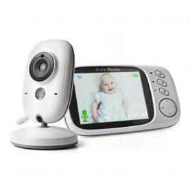Bébiőr VB603 Vezeték nélküli, Audio-Video megfigyelés, Hőmérséklet-figyelés, Kétirányú kommunikáció, Altatódalok, Éjszakai látás, Beépített akkumulátor