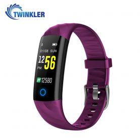 Intelligens fitnesz karkötő TKY-S5 Pulzusmérő funkció, Vérnyomásmérő funkció, Alvásfigyelés, Lépésszámláló, Értesítések, LED megvilágítás, Lila