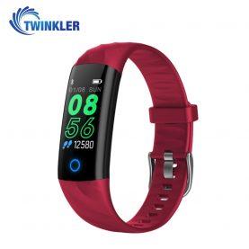 Intelligens fitnesz karkötő TKY-S5 Pulzusmérő funkció, Vérnyomásmérő funkció, Alvásfigyelés, Lépésszámláló, Értesítések, LED megvilágítás, Piros