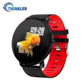 Okosóra TKY-K9 fitnesz, Szilikon, Pulzusmérő funkció, Vérnyomásmérő funkcióval, Alvásfigyelő, Hívás/SMS Értesítések, Véroxigénszint mérési funkcióval, Piros