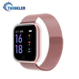 Okosóra TKY-P68 Pulzusmérő funkció, Vérnyomásmérő funkcióval, Véroxigénszint mérési funkcióval, Hívás/SMS Értesítések, Mágneses töltés, Rózsaszín