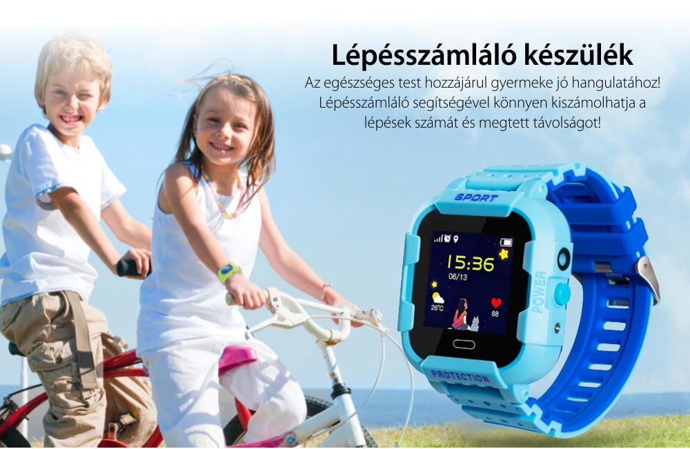 Okosóra gyerekeknek Xkids X20 Tárcsázási funkcióval, GPS követéssel, Hívásfigyeléssel, Kamera, Lépésszámláló, SOS, IP54, Mágneses töltés, Fekete – Citrom Zöld