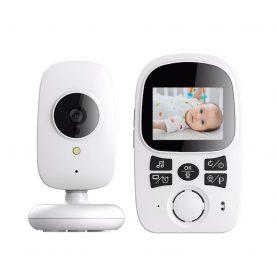 Bébiőr BS-W212 Vezeték nélküli, 2.4″ Képernyővel, Audio-Video megfigyelés, Hőmérséklet-megfigyelés, Kétirányú kommunikáció, Altatódalok, Automatikus éjjellátó, Beépített akkumulátor