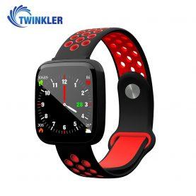 Intelligens fitnesz karkötő TKY-F15 Pulzusmérő funkció, Vérnyomásmérő funkció, VérOxigénszint mérő funkcióval, Alvásfigyelő, Hívás/SMS Értesítések, Mágneses töltés, Fekete-Piros