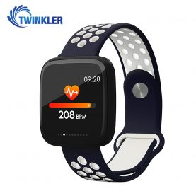 Intelligens fitnesz karkötő TKY-F15 Pulzusmérő funkció, Vérnyomásmérő funkció, VérOxigénszint mérő funkcióval, Alvásfigyelő, Hívás/SMS Értesítések, Mágneses töltés, Kék-Fehér